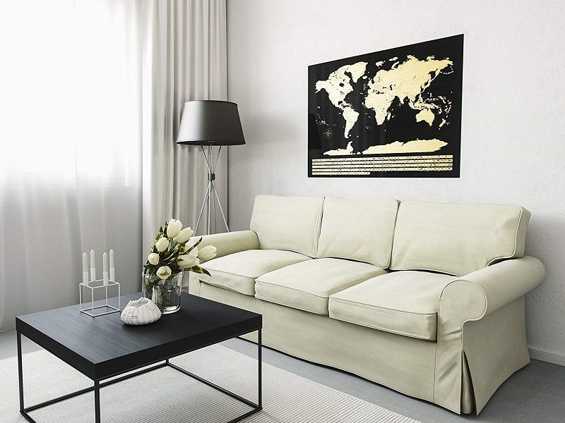 mapa mundial decorativo pared rascar